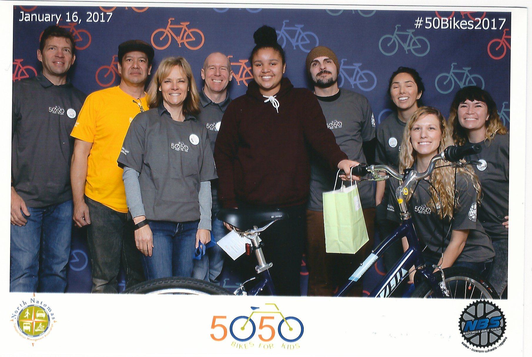 We had a great time volunteering for 50 Bikes for 50 Kids with @NorthNatomasTMA today! #50Bikes2017 https://t.co/EXGdFD5fDw