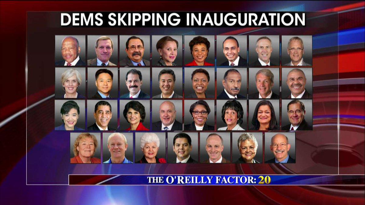 #Dems skipping inauguration. #oreillyfactor <br>http://pic.twitter.com/jYgkaeDs55