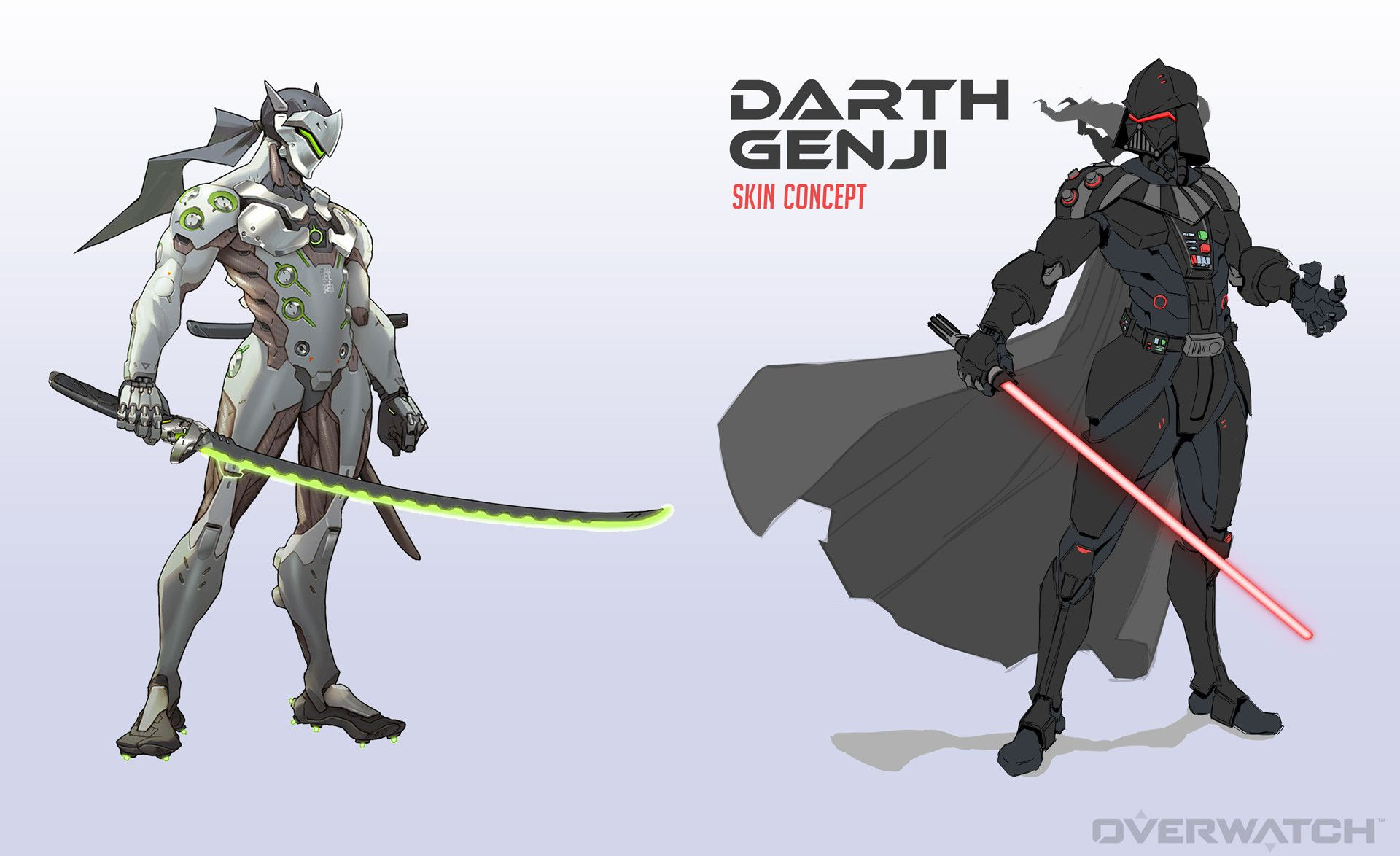 Overwatch Feed On Twitter Quot Star Wars Genji Skin Concept