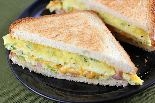 Denver Omelet Sandwich Recipe