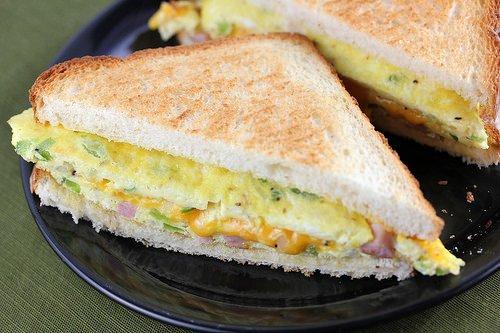 Denver Omelet Sandwich Recipe