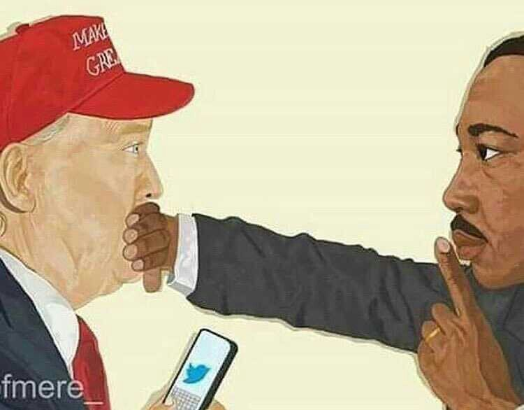 What a powerful picture!   Happy belated MLK Day!   #TheResistance #Trump #Indivisible #MLK  #MLKDay <br>http://pic.twitter.com/yXYwnLd1cJ