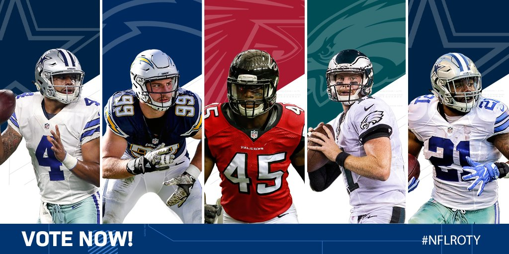 VOTE for the @Pepsi Rookie of the Year!  Tweet player's name + #NFLROT...