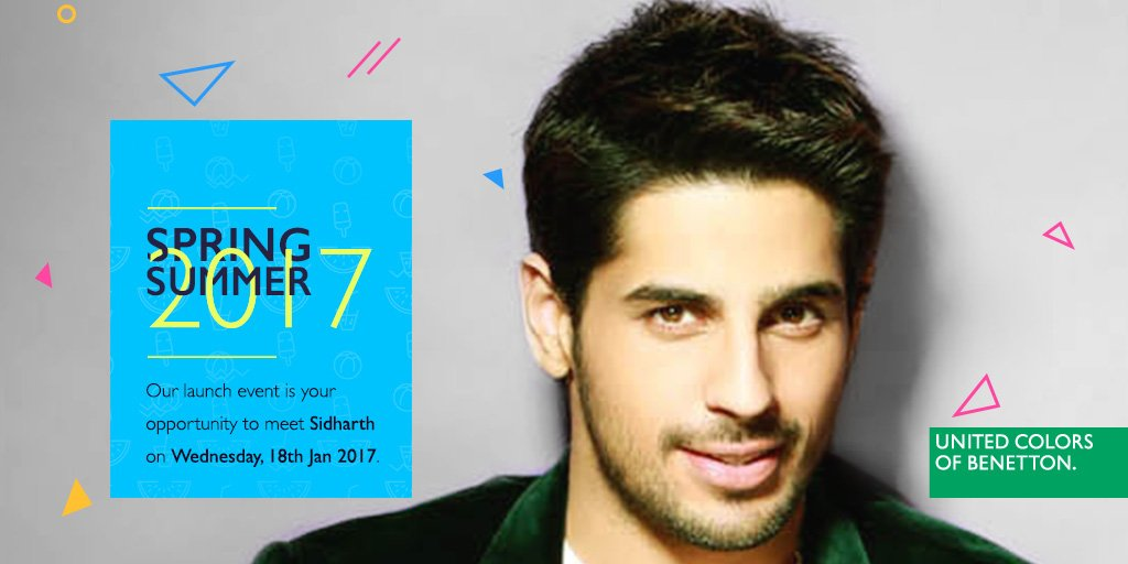 Did we mention @S1dharthM is going to be at the #SpringSummer2017 laun...