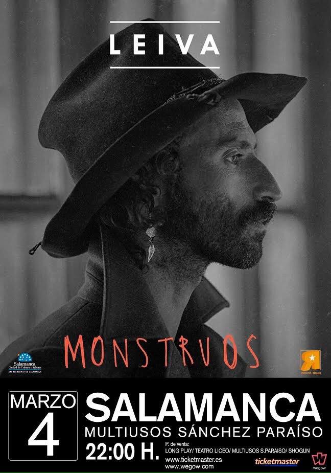 Ya están a la venta las entradas para el concierto de @Leiva_Oficial en #Salamanca 4 de Marzo VUELVEN los #Monstruos  http:// tickets.wegow.com/es/entradas/le iva-en-salamanca &nbsp; … <br>http://pic.twitter.com/i5o4MscQ7O