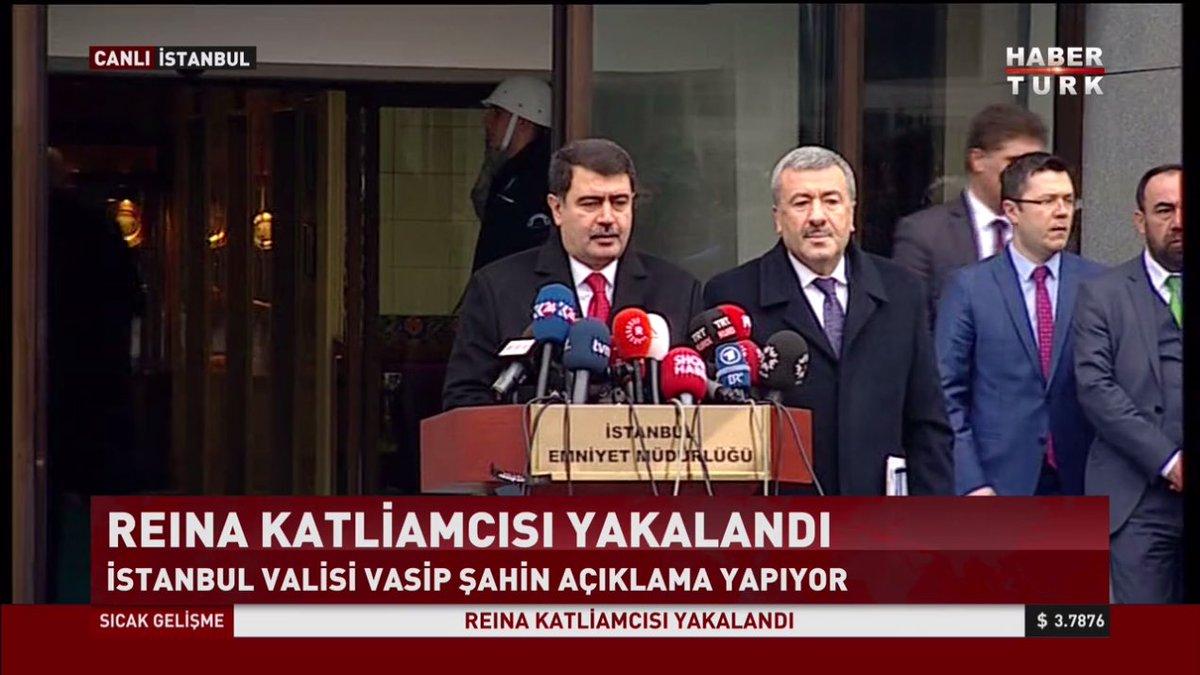 #CANLI İstanbul Valisi ve İstanbul Emniyet Müdürü'nden #Reina saldırga...