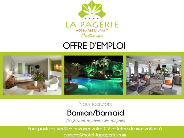 Hotel La Pagerie On Twitter Hotellapagerie Recrutement