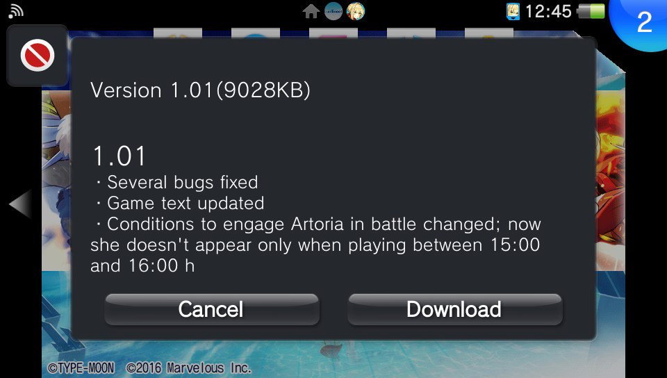 Day 1 Patch for Fate/EXTELLA: The Umbral Star is now available to download from PSN. https://t.co/KqXkt0Z3X8