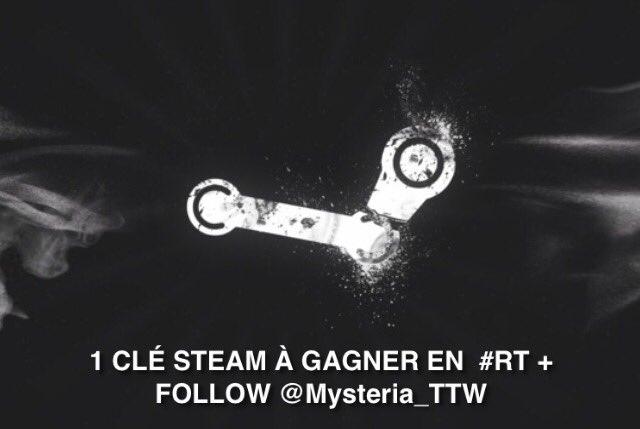 CONCOURS  Gagne  •1 clé Steam   #RT + #follow @Alaryah_ &amp; @Mysteria_TTW   TAS ce soir à 23h <br>http://pic.twitter.com/HEyxMhLh0S