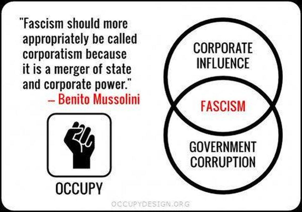 #TheResistance #NoFascistUSA Mussolini distinguished fascism from libe...