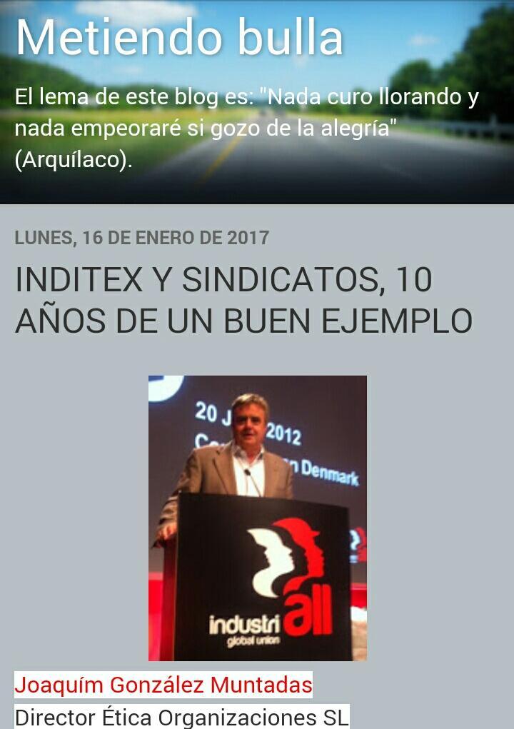 Acuerdo Marco Mundial #Inditex + @IndustriALL_GU cumple 10 años. @JGMuntadas hace balance &gt;  https:// goo.gl/wS81Md  &nbsp;  <br>http://pic.twitter.com/T1Nv2wxHBK