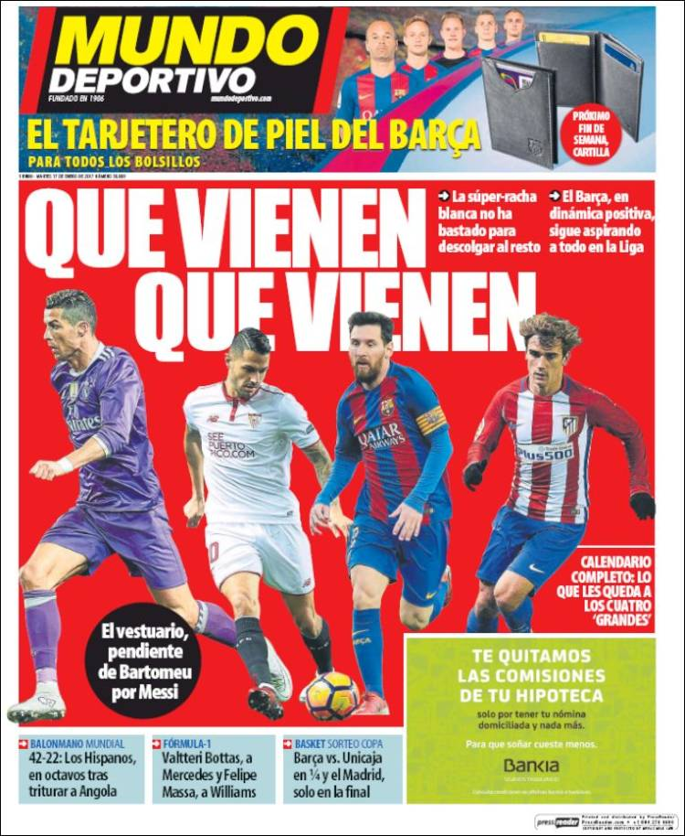 Footballespana On Twitter Today S Front Page Headlines From Marca As And Mundo Deportivo Realmadrid Atletico Barcelona Https T Co 90wslc5ps6 Https T Co 5wvfjnstnn