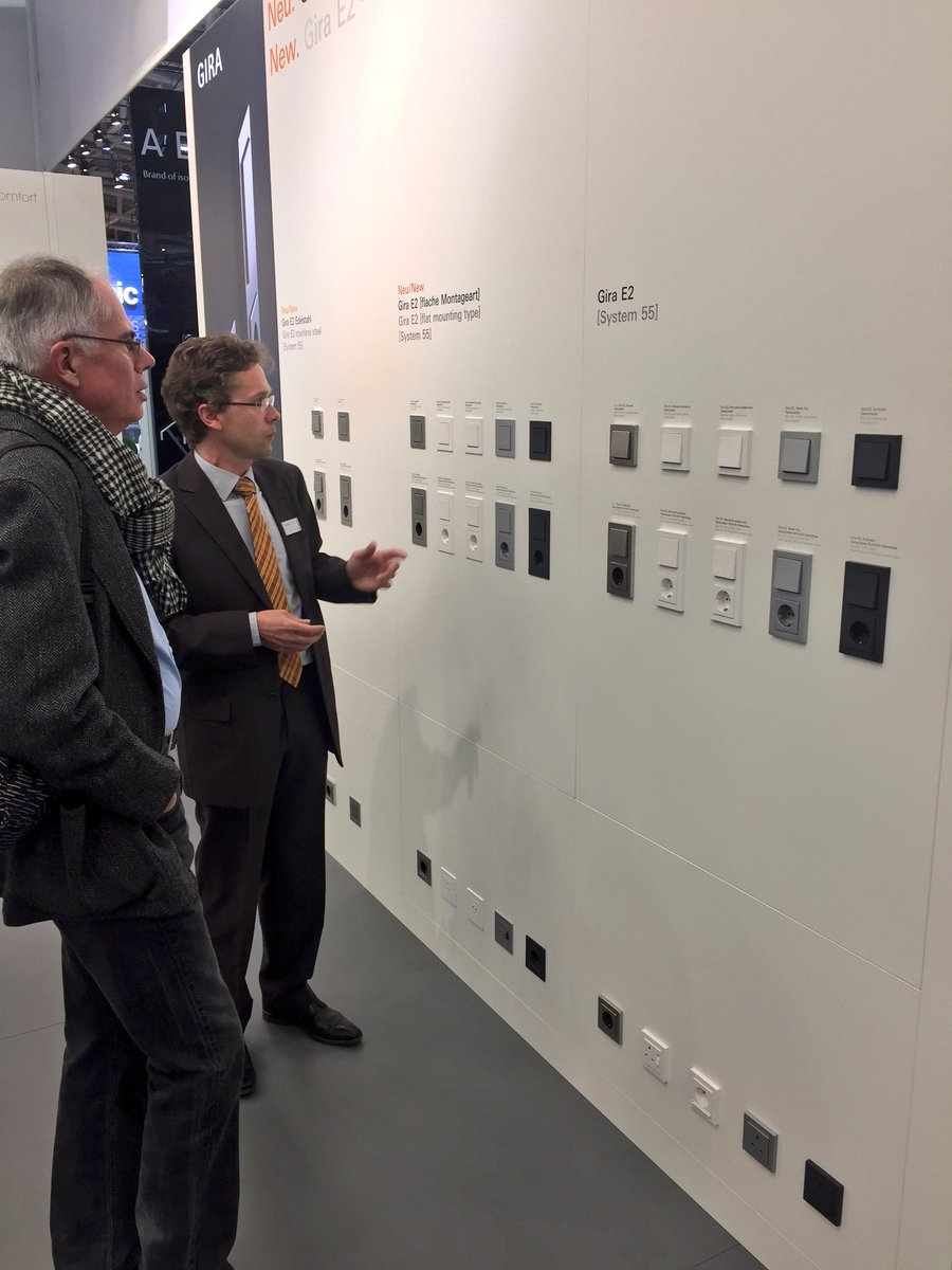 The new and expanded GIRA #e2 switch range is proving a hit at @BAU_Muenchen #BAU2017. Visit GIRA in C2 to see it for yourself.<br>http://pic.twitter.com/uNmbxPnrgF