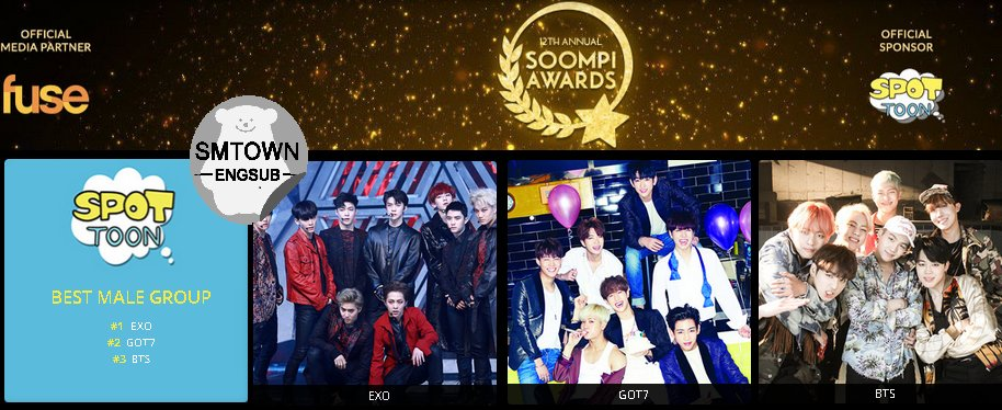 Best Male Group Vote : 1 #EXO #SoompiAwards  #TeamEXO |SMTownEngSub|  <br>http://pic.twitter.com/JRVq5aGwlg