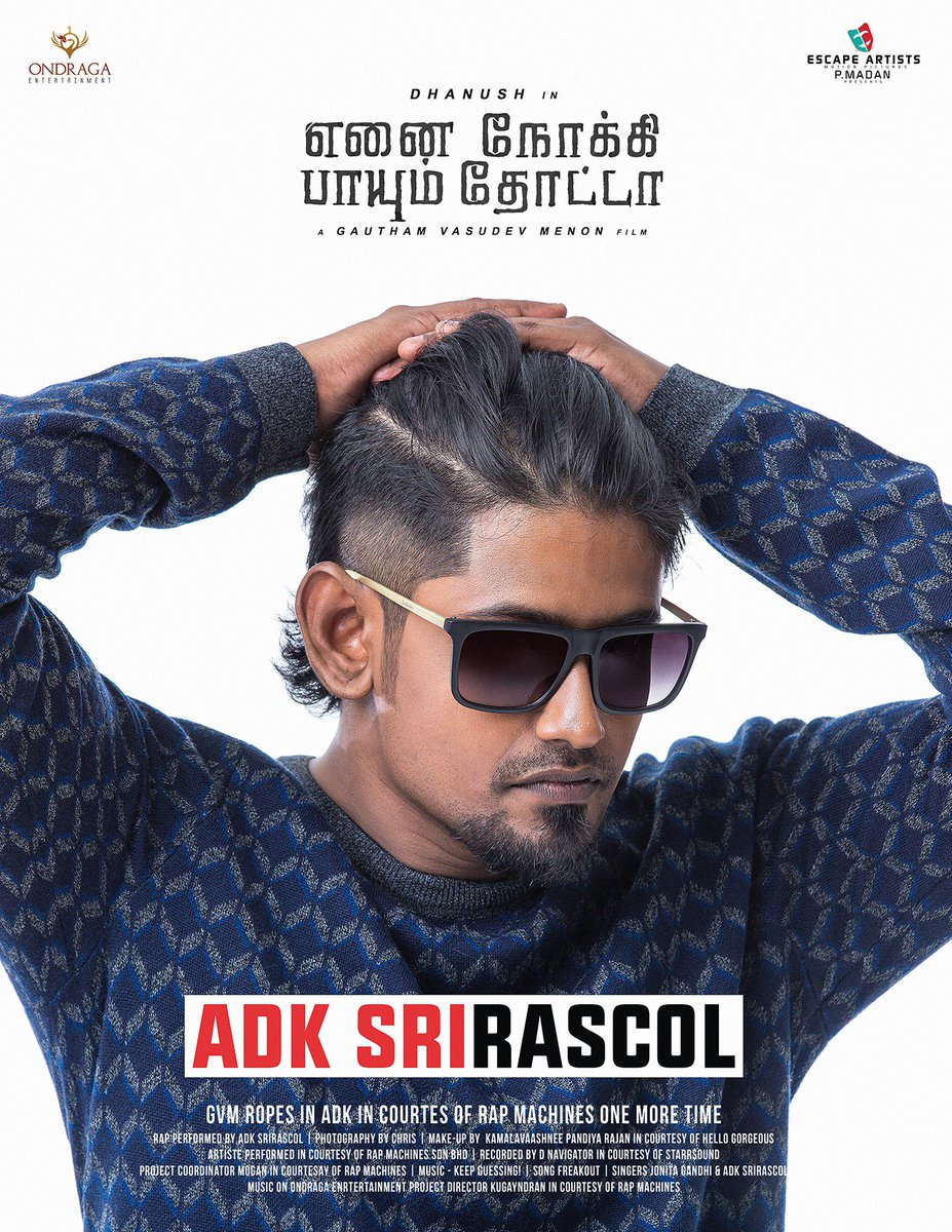 @dhanushkraja @menongautham @AaryanDineshK @SriRascol Music Director? don't know la! https://t.co/150pIPEgGn