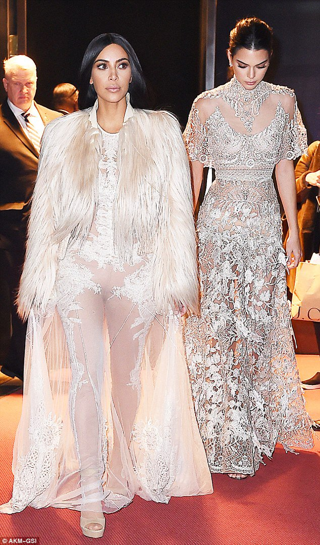Kim kardashian and kendall jenner forgo underwear in nearly matching ...