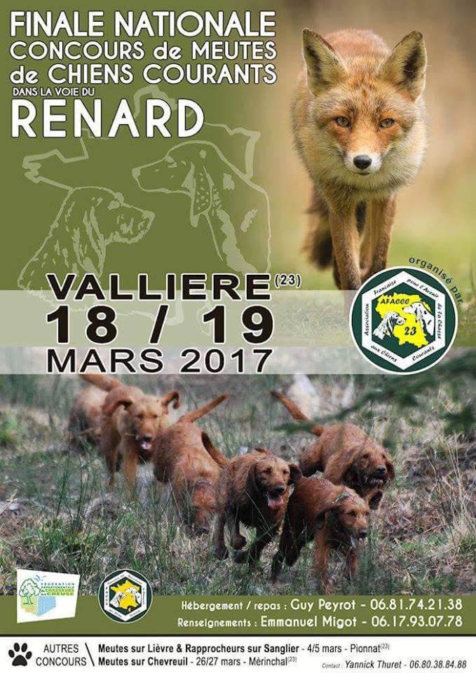 Finale nationale concours de #meutes de chiens courants / #Renard #Vallière<br>http://pic.twitter.com/dbmYVAkJ4d
