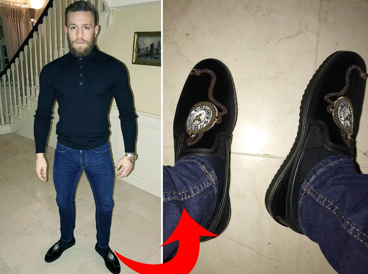 e0871011ed4 Conor mcgregor shows off his fancy dolce   gabbana loafers ...