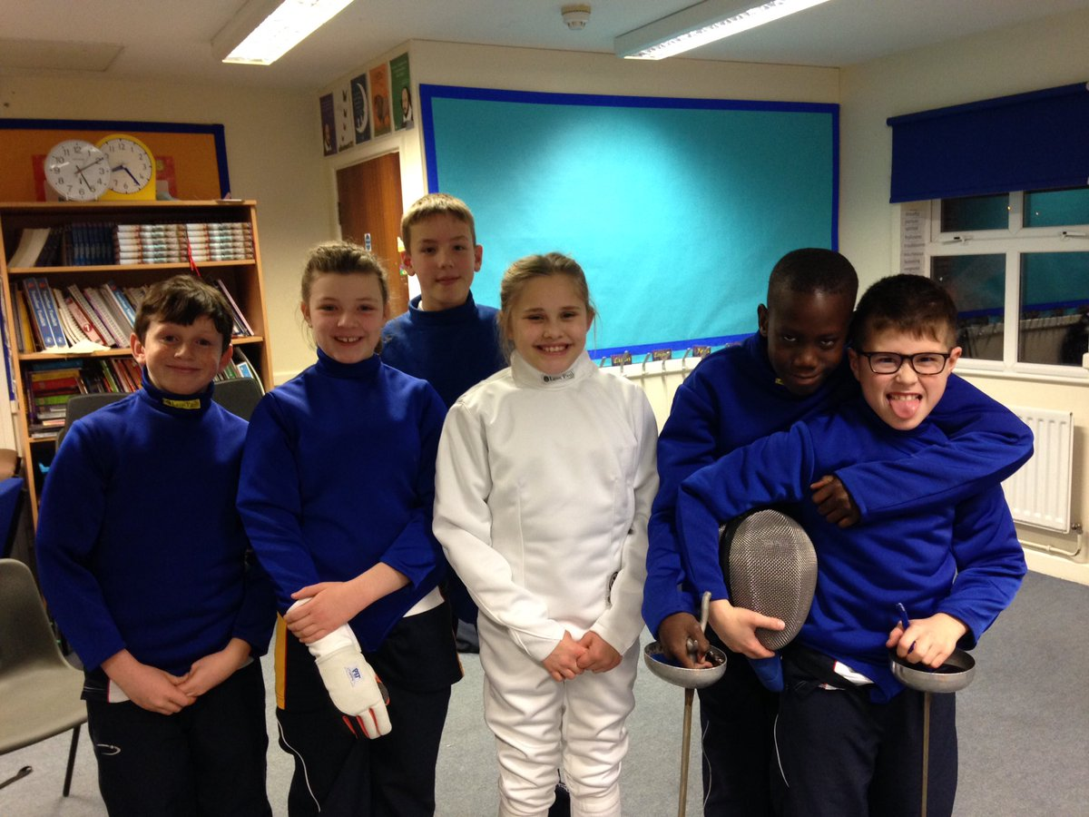 Warminster Prep fencing team. South West competition 28 January. Maddy captain! #NewAdventures @WarminsterSport<br>http://pic.twitter.com/KLSwMaQPLr