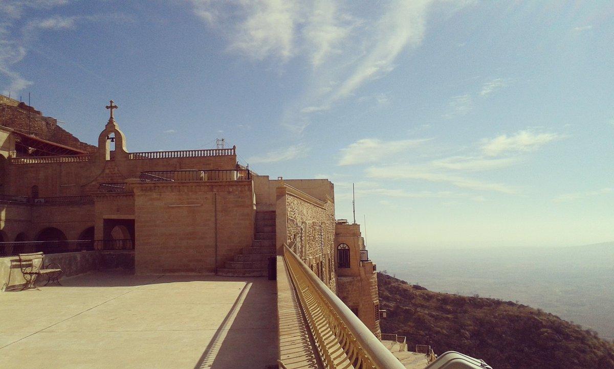 Vue panoramique sur la plaine de Ninive du haut du monastère Mar Mattai #irak #chretiensdorient<br>http://pic.twitter.com/D9gdkzxl6p