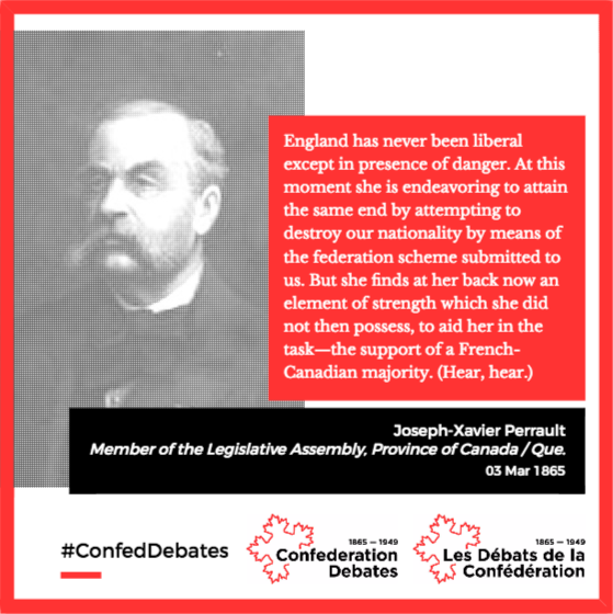 In the 1860s, many in #Quebec doubted that #Canada would respect their culture. #cdnhist #Canada150  #quoteoftheday #Confederation #Autre150e <br>http://pic.twitter.com/c8KEC8FOTd
