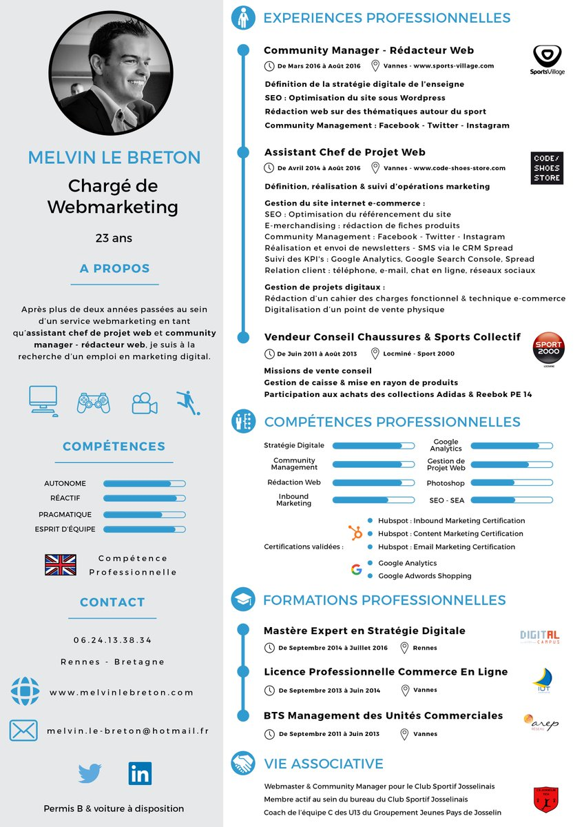 #PleaseRT : je recherche un #emploi en #webmarketing &amp; communication #digital sur #Rennes ou #Nantes #i4EmploiR :  http:// fr.linkedin.com/in/melvinlebre ton &nbsp; …  …<br>http://pic.twitter.com/fORWMxuONc
