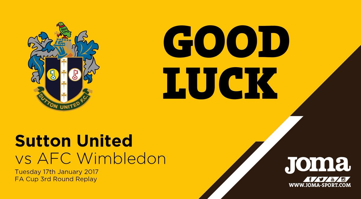 Good luck to @suttonunited for your @EmiratesFACup 3rd round replay ag...