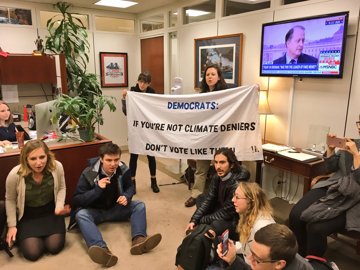 &quot;Senators, your choice is clear: If you&#39;re not a #climate denier, DON&#39;T vote like one.&quot;  #RejectRex, #StopPruitt &amp; stand up for our futures!<br>http://pic.twitter.com/g4vIK3cVGj