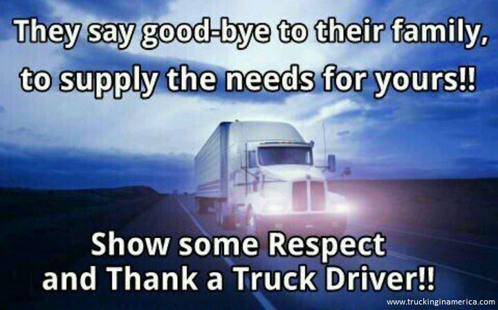 """Image result for thank a truck driver"""""""
