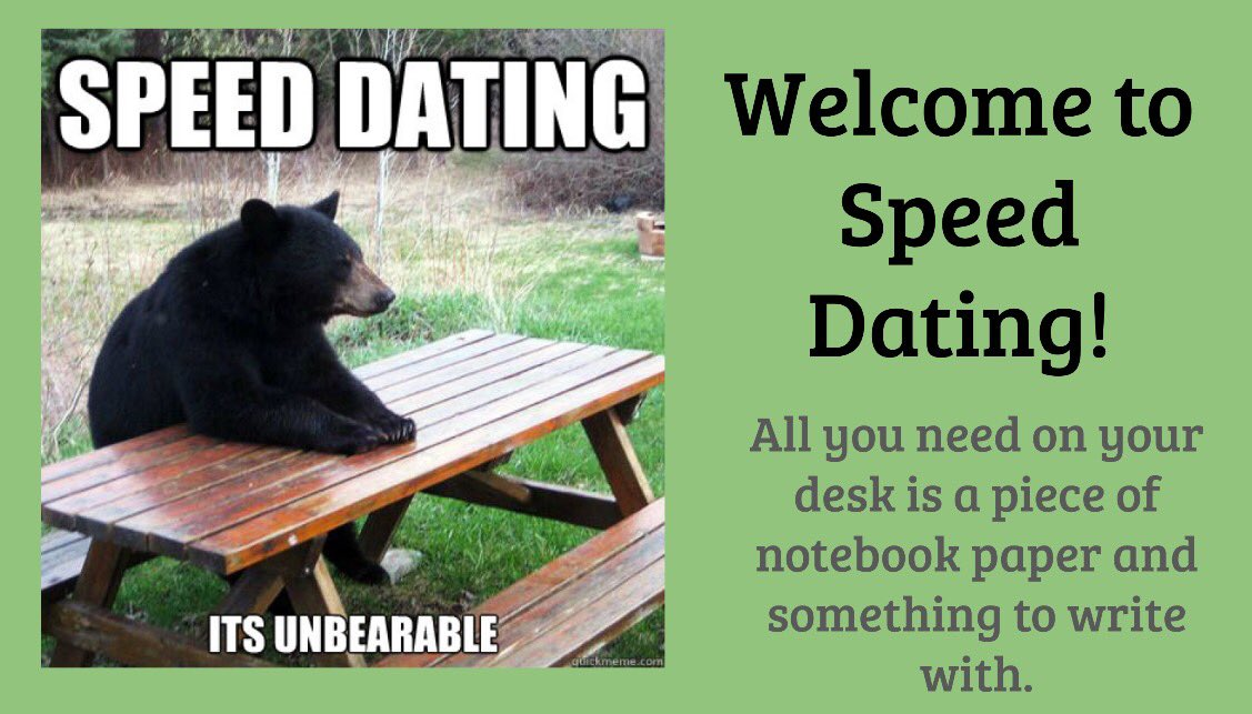 Black bear speed dating