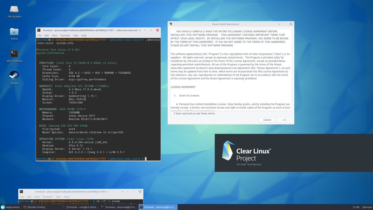 Phoronix On Twitter Here S How To Setup Clearlinux For Intel Steam Linux Gaming Https T Co Ntrnuru85t