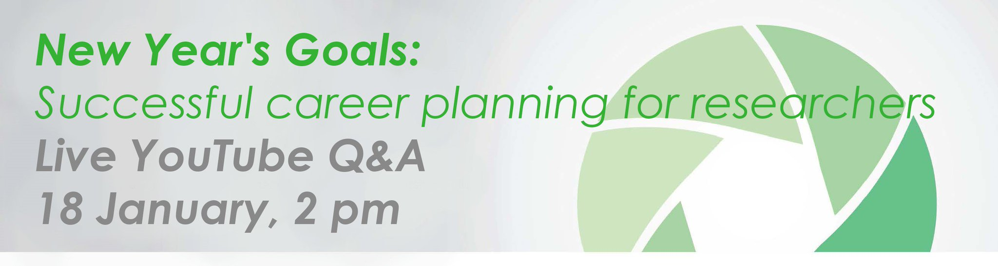 Thumbnail for New Year's Goals: Successful career planning for researchers #vitaehangout
