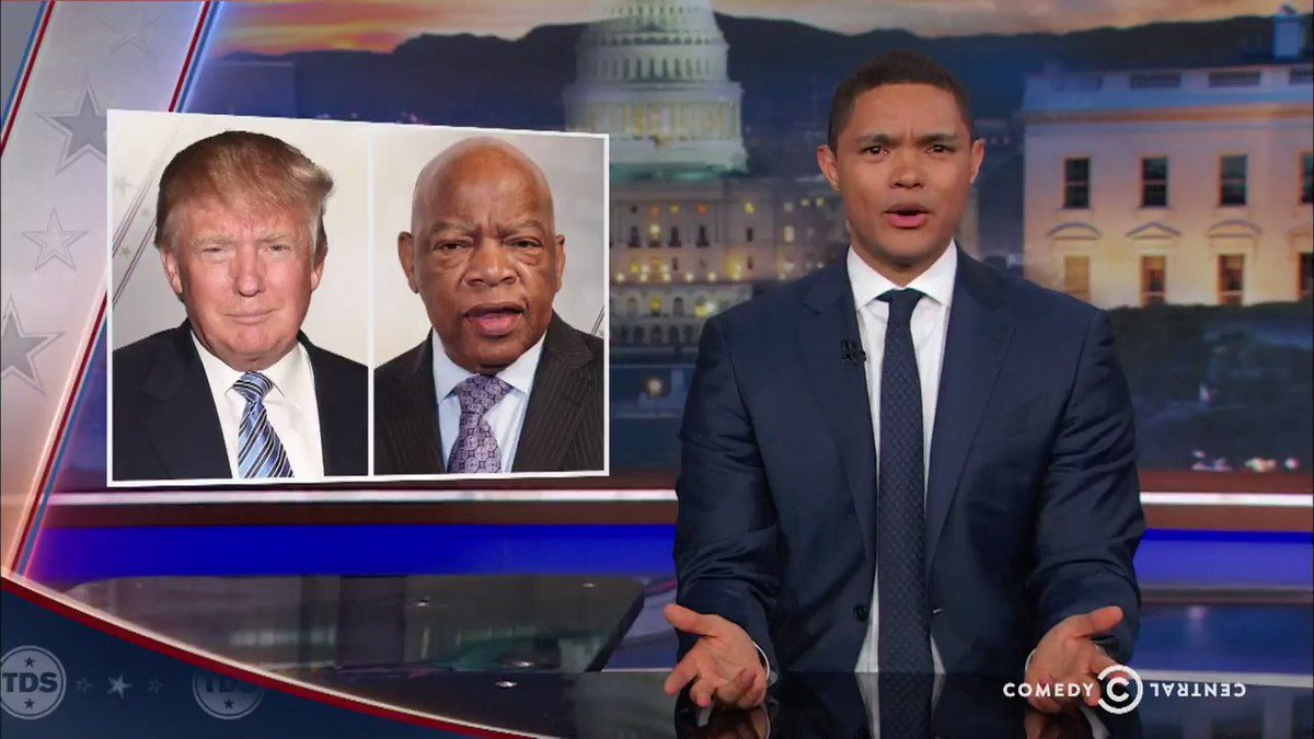 Trevor Noah puts John Lewis and Steve Harvey's responses to Trump in c...