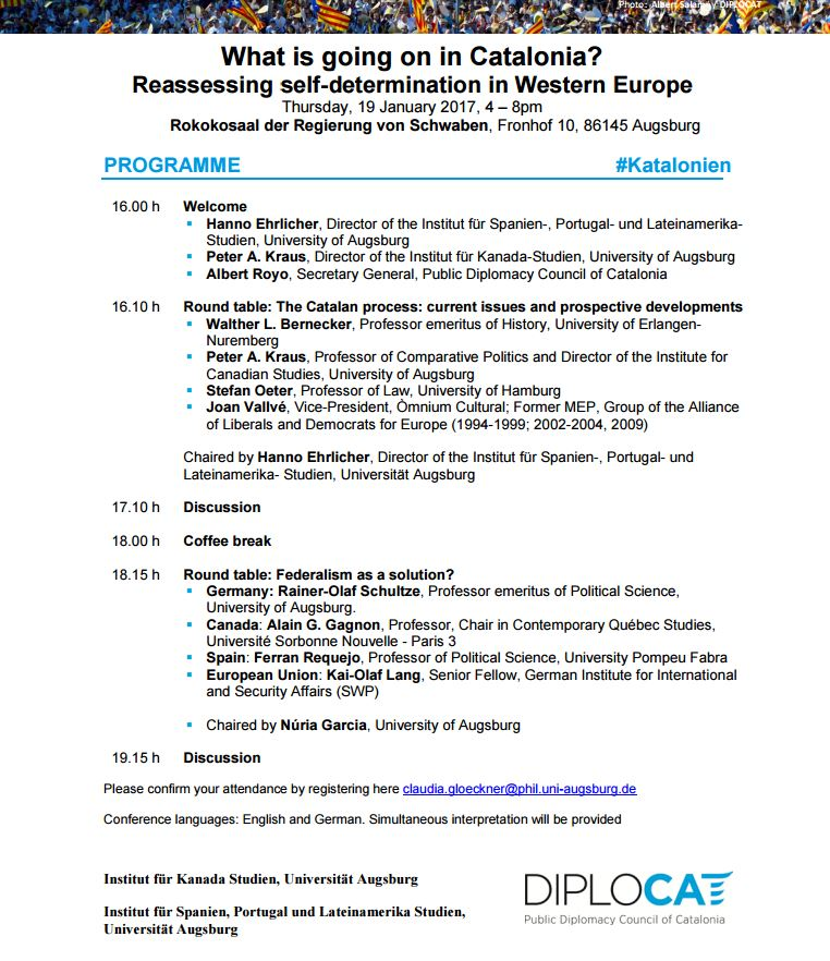 #Discussion #Debate What is going on in #Catalonia? Reassessing self-determination in Western #Europe  #19J #Augsburg #Deutschland @Ausburg<br>http://pic.twitter.com/MsQ7qk0oMe