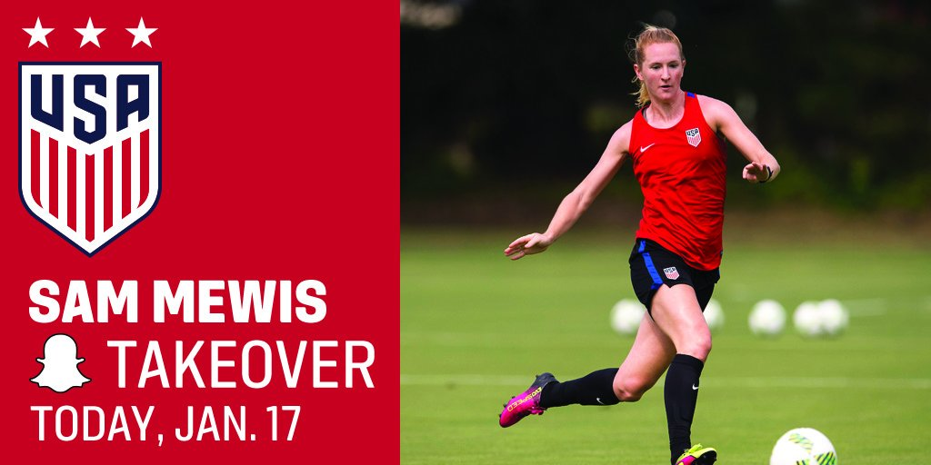 The #USWNT has the day off today BUT @sammymewy is taking over Snapchat. Follow along to see what she (&amp; co.) are up to!  : ussoccer_wnt<br>http://pic.twitter.com/ECTEsc1DRU