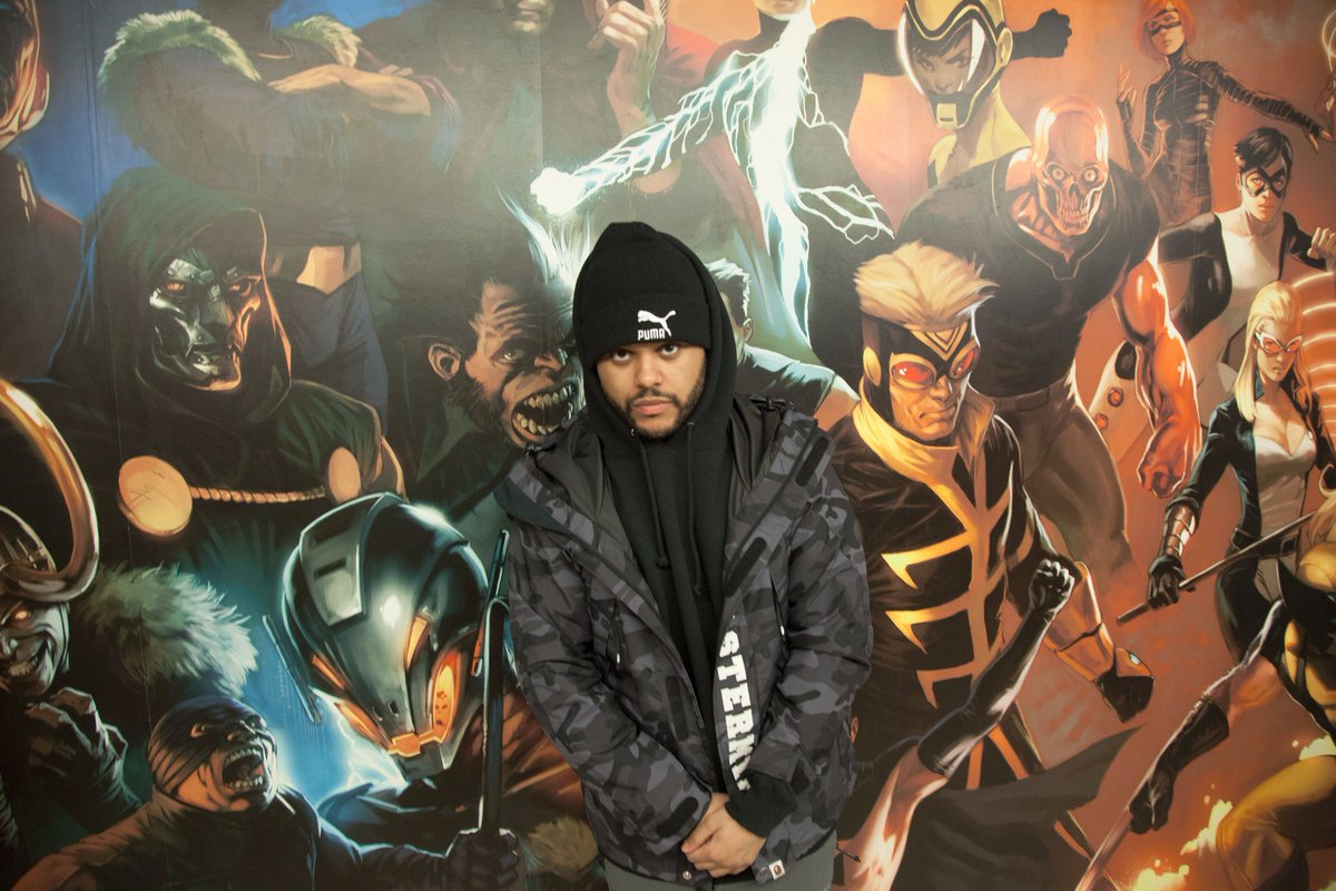 .@theweeknd stopped by on a weekday.⚡#MarvelHQ https://t.co/jMaCp0pDIx