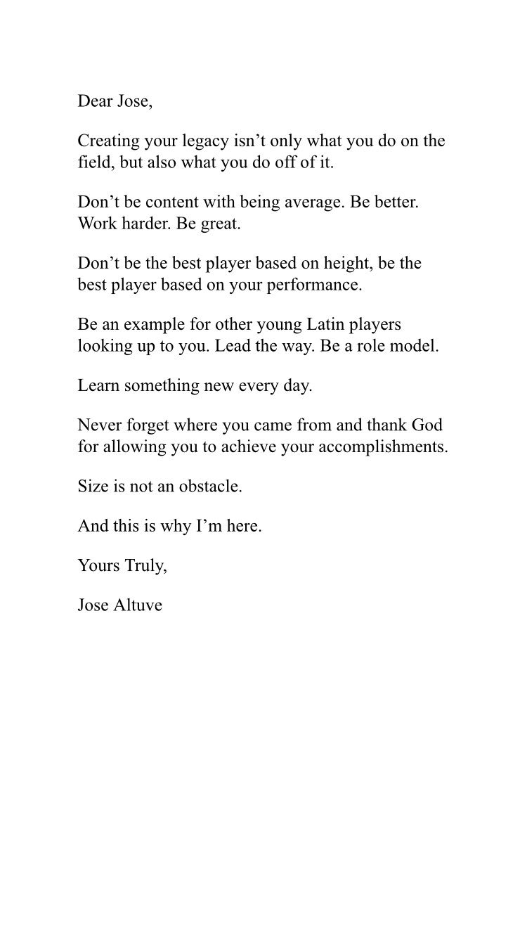 jose altuve on twitter quotletter to myfutureself set an
