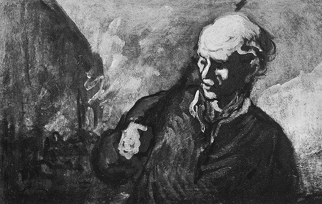 #PoliticalArt #NotMyPresident #Rare #Art #SocialArt Honoré  Daumier &quot;Insurgent on the Barricade&quot;  circa 1860 11 5/8&quot;  x18&quot;<br>http://pic.twitter.com/LR6mtM28k0