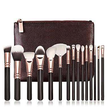 [$15.83] Best seller 15pcs Cosmetic Soft Makeup Brush Set Blush Powder Concealer Foundation Eye Shadow Lip Brushes Sets