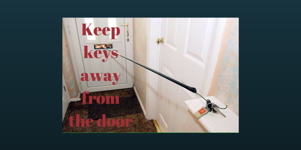 Don't leave car keys anywhere they are a gift to criminals...   #homesecurity  original image from @policescotland<br>http://pic.twitter.com/EupQ77Qgur