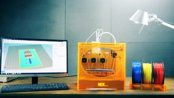 Nix : une imprimante 3D couleur à seulement 865 €   https:// goo.gl/B95qrk  &nbsp;   #impression3d #3Dprinting #3dprinter #DIY #FabLab<br>http://pic.twitter.com/2SY0Ukkin3