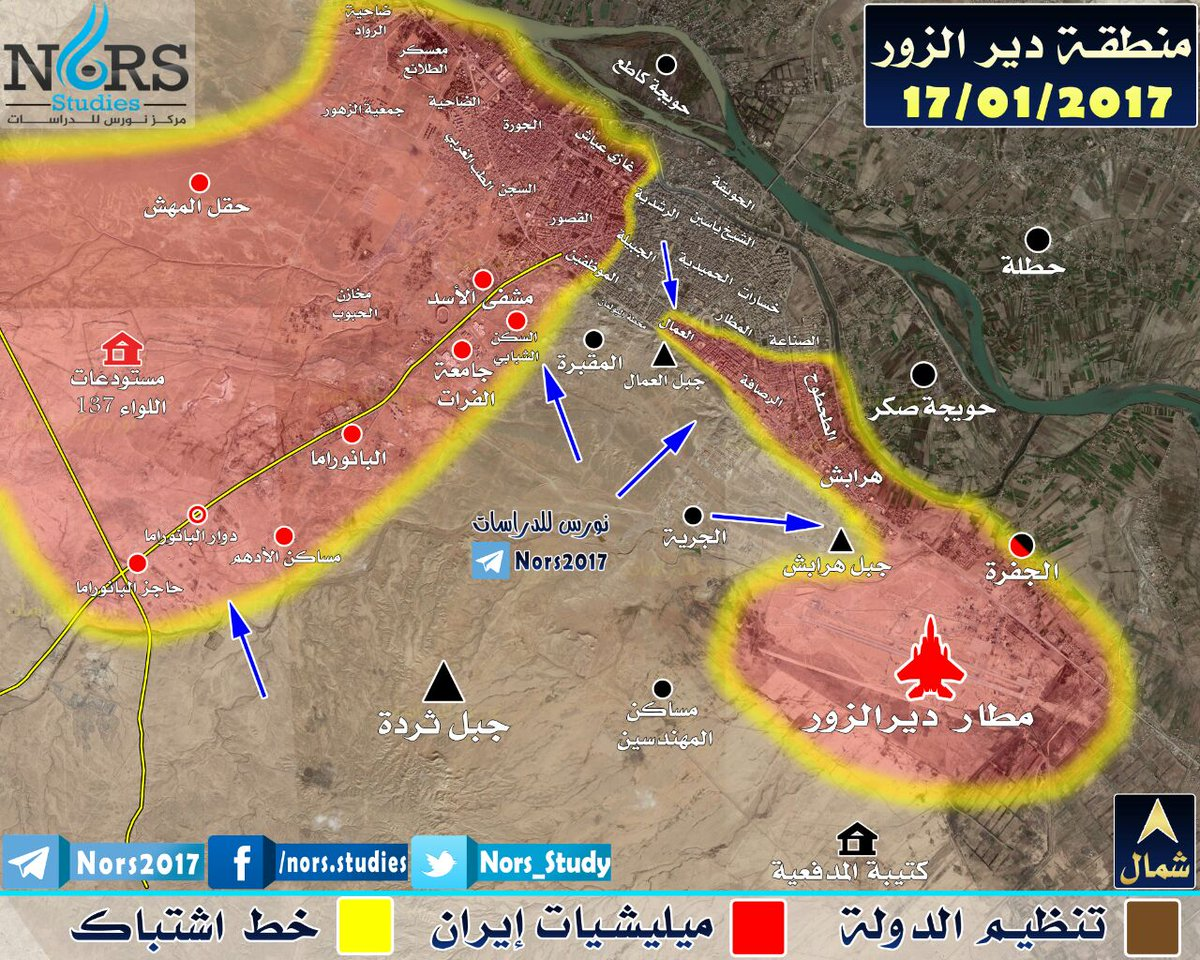 New map of Deir Ezzor from NORS SyrianRebels