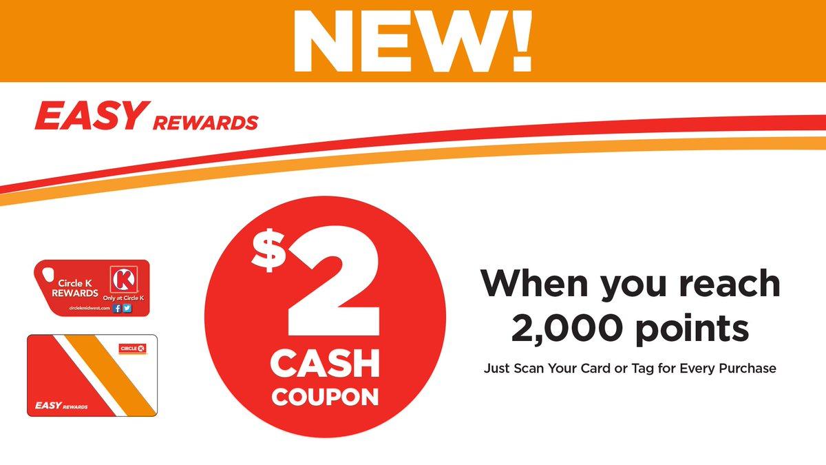 circle k midwest on twitter check it out rewards circlek coupon cash - Circle K Easy Rewards Card