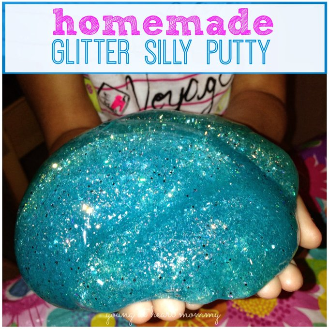 How To Make Homemade Glitter Silly Putty