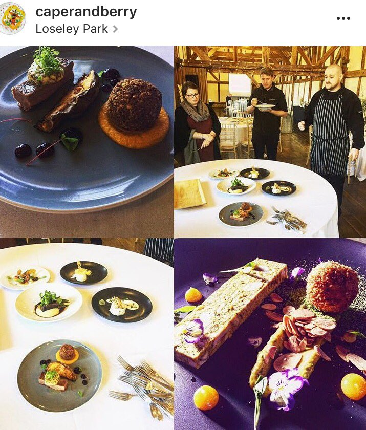 RT @Loseleyevents Our very talented kitchen team have been busy creating new dishes today! The 2017 menus are nearly finalised here @LoseleyPark #foodies