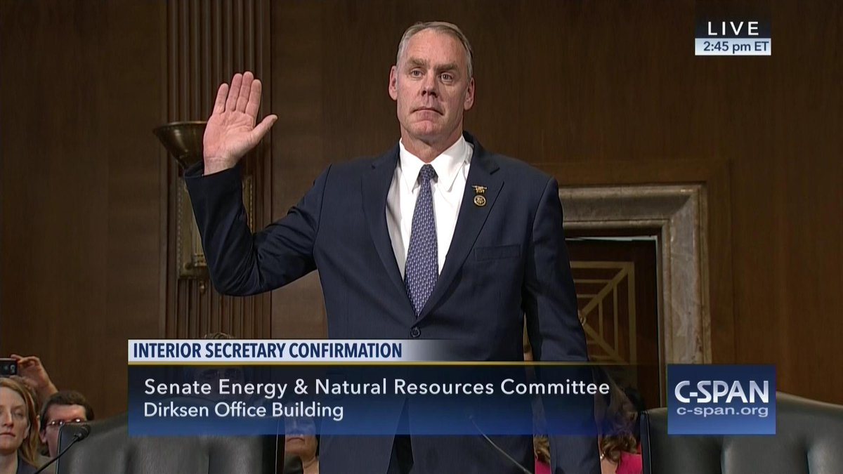 CSPAN on Twitter Confirmation Hearing Nominee to be Interior