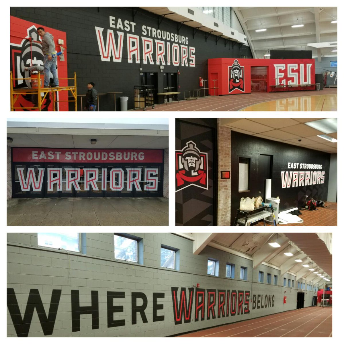 Some additional views of the New ESU activated in and around the Fieldhouse  ⚫