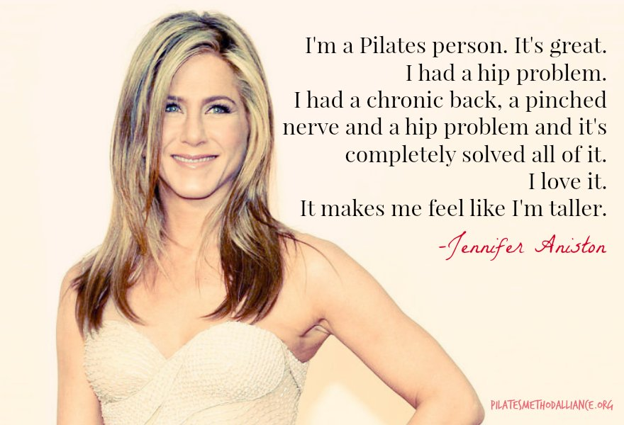 """I'm a Pilates person."" -Jennifer Aniston #pma2017 #pilatesisforeveryone https://t.co/42oHEFkrS6"