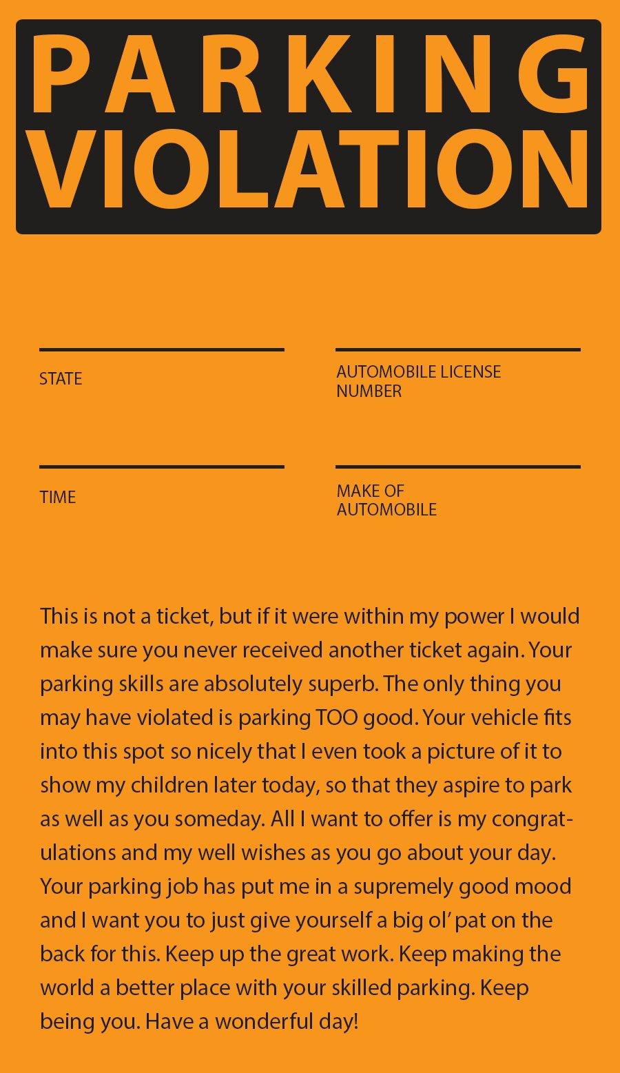 Striking image pertaining to fake parking ticket printable