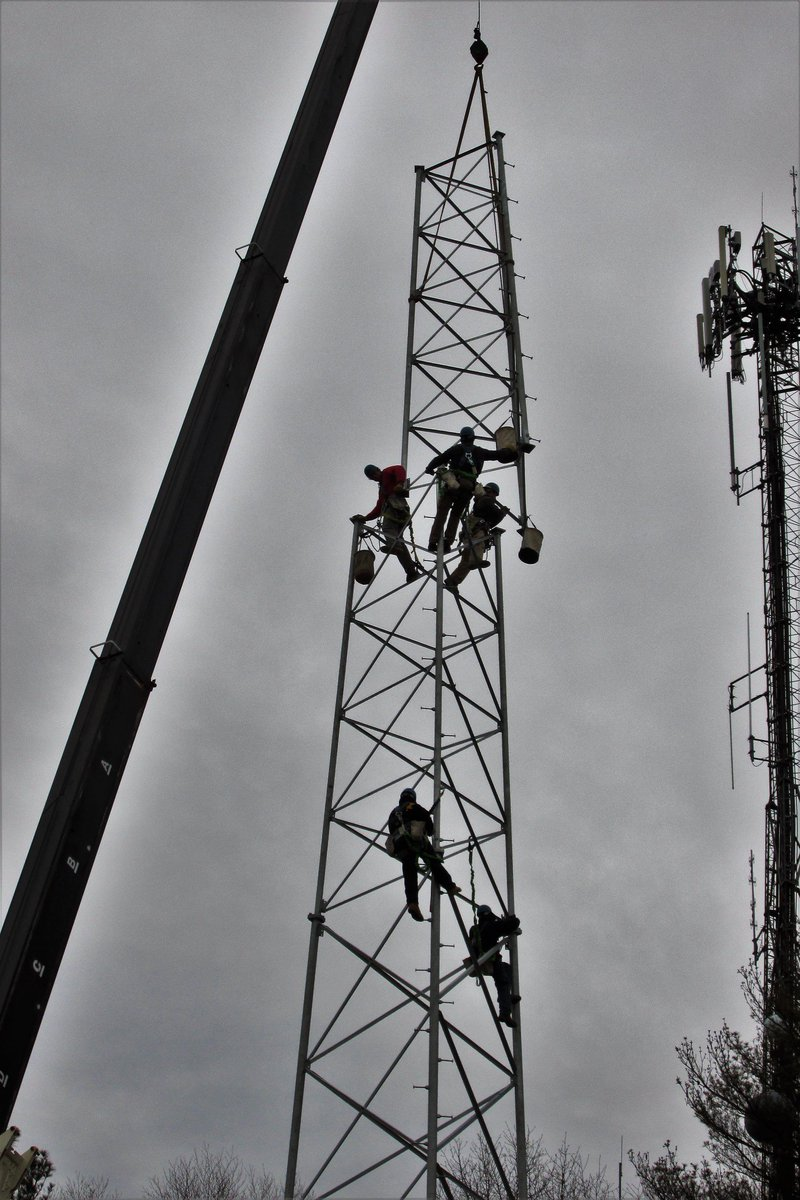 the radio tower was placed only a few days ago